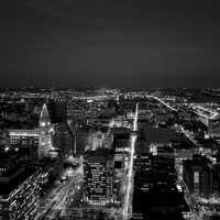 Night Lights and Cityscape in Philadelphia, Pennsylvania
