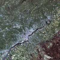 Satellite View of Philadelphia, Pennsylvania