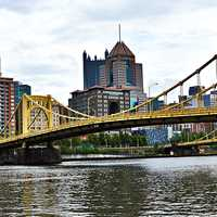 Bridge over the River in Pittsburgh, Pennsylvania