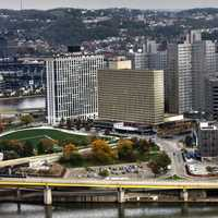 Skyscrapers and Cityscape Urban setting in Pittsburgh, Pennsylvania