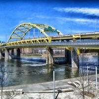 HDR Cityscape of Bridge in Pittsburgh, Pennsylvania