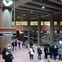 Steel Plaza subway station in Pittsburgh, Pennsylvania