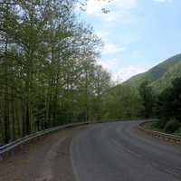 Curving Roadway at Sinnemahoning State Park, Pennsylvania