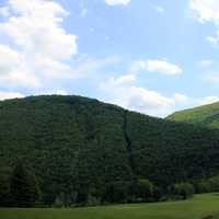 Hilly Landscape at Sinnemahoning State Park, Pennsylvania