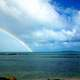 Rainbow over the ocean in Palomino
