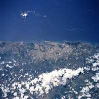 San Juan from space in Puerto Rico