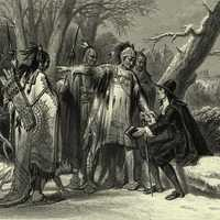 Roger Williams meeting Narragansett Native Americans