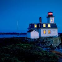 Rose island lighthouse in Rhode Island