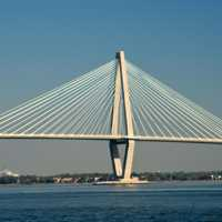 Bridge across the bay in Charleston, South Carolina