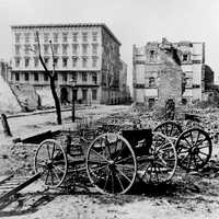 Ruins of the fire of 1861 in Charleston, South Carolina