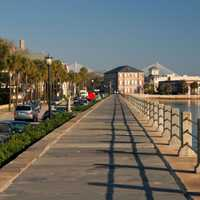 Sidewalk by the Water at Charleston, South Carolina