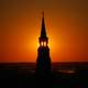 Sunset behind tower at Charleston, South Carolina