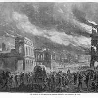 Burning of the State House during Civil War, Columbia, South Carolina