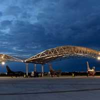 South Carolina Air National Guard flight line night operations