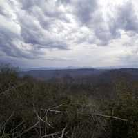 Before the storm landscape view at Sassafras Mountain, South Carolina