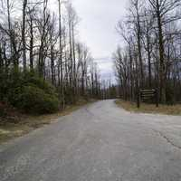 The Road up to the summit of Sassafras Mountain in South Carolina