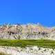 Hills and formations at Badlands National Park, South Dakota