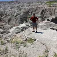 Me standing at the edge of many Buttes at Badlands National Park, South Dakota