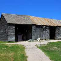 The barn or shed at Badlands National Park, South Dakota