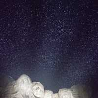 Night lights in Mount Rushmore in black hills