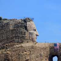Face of crazyhorse in the Black Hills, South Dakota