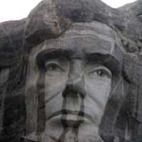 Lincoln Face on Mountain in the Black Hills, South Dakota