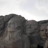 Mount Rushmore on a cloudy day in the Black Hills, South Dakota