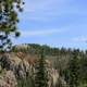 Blue Skies above the bluff in Custer State Park, South Dakota