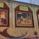 Art designs on the corn palace in Mitchell, South Dakota