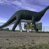 Giant 80 foot dinosaur at Wall, South Dakota