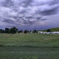 Heavy Clouds over the grasslands of Wasta, South Dakota