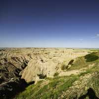 Ridges and Rock formations in Badlands National Park