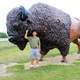 Me taming the Alpha Bison in the Black Hills, South Dakota