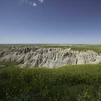 The Edge of a cliff at Badlands National Park