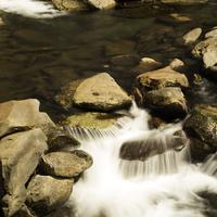 Cascading Water Closeup in Great Smoky Mountains National Park, Tennessee