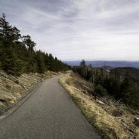 Clingman's Dome Trail to the top landscape in Great Smoky Mountains National Park, Tennessee