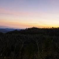 Dusk over the Blue Ridge Mountains in Great Smoky Mountains National Park, Tennessee