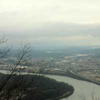 View of river and Chattanooga at Lookout Mountain, Tennessee