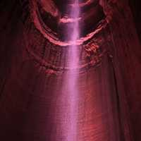 Ruby Falls in Violet at Lookout Mountain, Tennessee