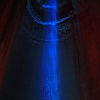 Ruby Falls in Blue at Lookout Mountain, Tennessee