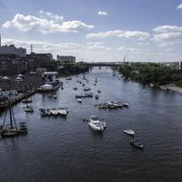 Boats on the Cumberland River in Nashville