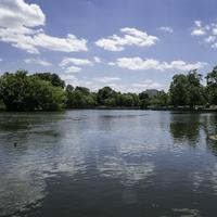 Landscape of the Lake in Bicentennial Park in Nashville, Tennessee