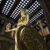 Side view of statue of Athena in Nashville