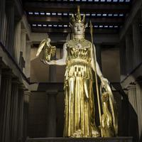 Statue of Athena on the middle of the Parthenon, Nashville