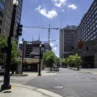 Streets under the sky in Downtown Nashville, Tennessee