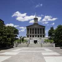 Tennessee State Capital with courtyard in Nashville
