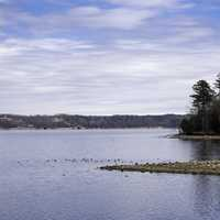 Shoreline and Water landscape of Pickwick Lake
