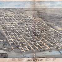 1873 Illustration of Edwin Waller's layout for Austin, Texas