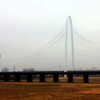 Bridge in the Mist in Dallas, Texas