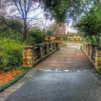 Bridge walkway in Dallas, Texas
